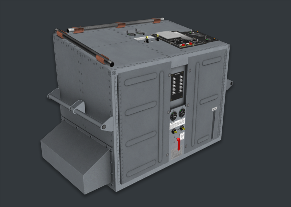 3D Model of an Equipment Cabinet
